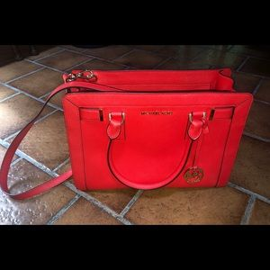 Red Michael Kors purse, perfect condition